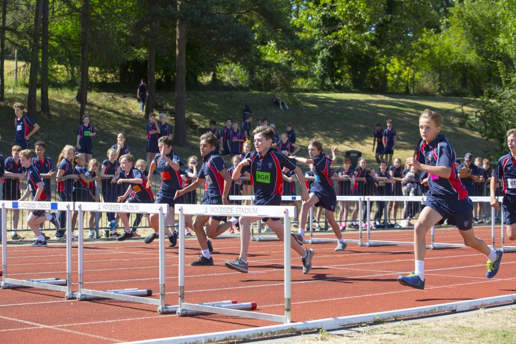 Berkhamsted School Sports Day Athletics Hurdles