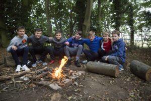 bushcraft campfire