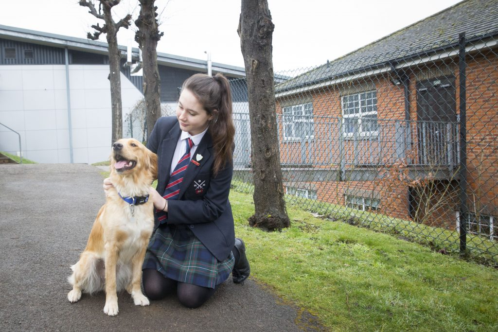 Robyn Rogers and Nala the wellbeing dog