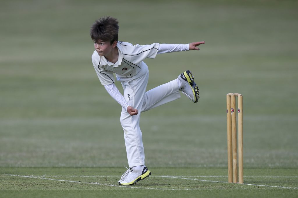 Finlay Webster bowling cricket